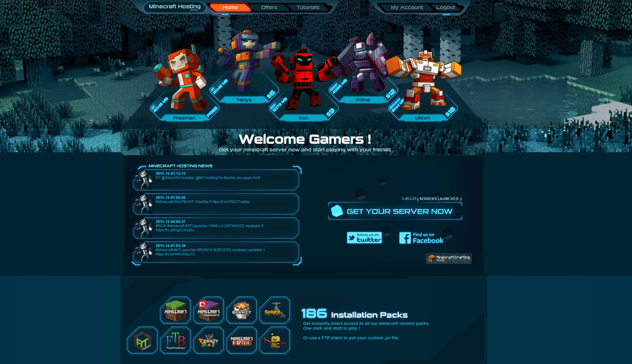 Minecraft Hosting Pro at Web Hosting Search