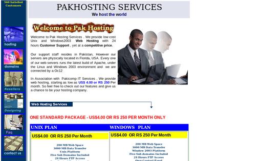 Pak Hosting Services