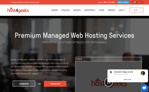 Host4Geeks LLC is a leading web hosting company offering services in US and  UK. Quality web hosting is essential for the sole purpose of keeping a  business' ...
