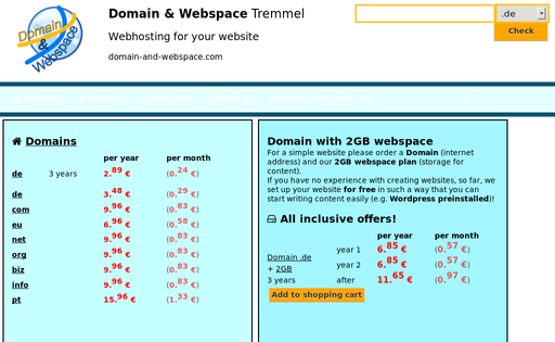 Domain-and-Webspace.com