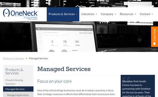 OneNeck IT managed services