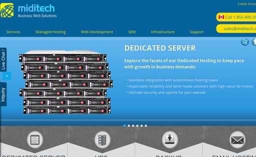 Web Hosting Canada-MidiTech