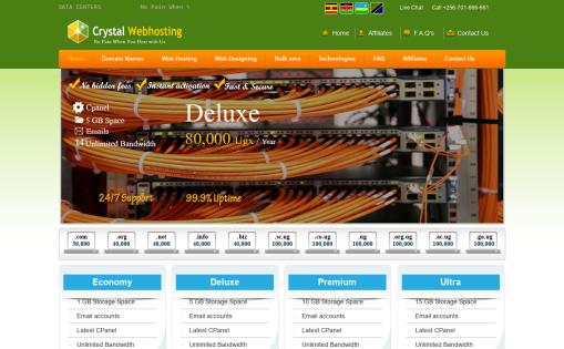 Crystal Webhosting