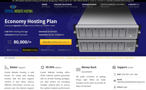 Crystal Website Hosting
