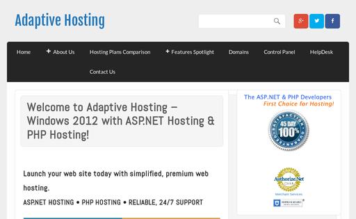 Adaptive Hosting