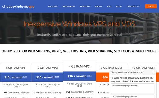 Cheap Windows VPS