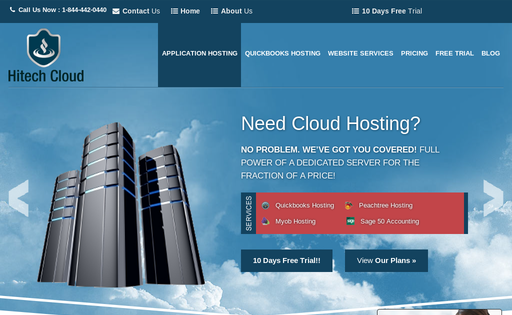 Hitech Cloud Hosting Solution