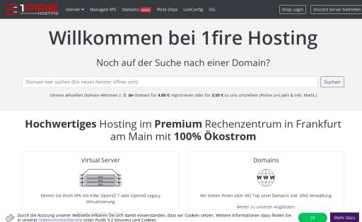 1fire Webhosting