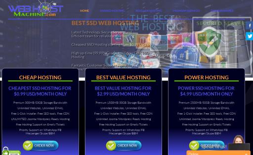 cheap machine hosting