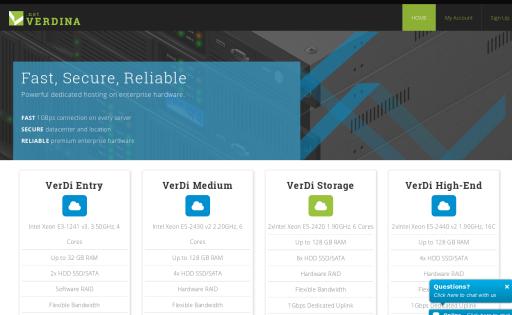 Verdina.NET Dedicated Servers