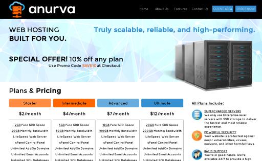 Anurva Web Hosting