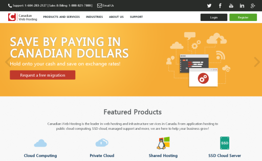 Canadian Cloud and Web Hosting