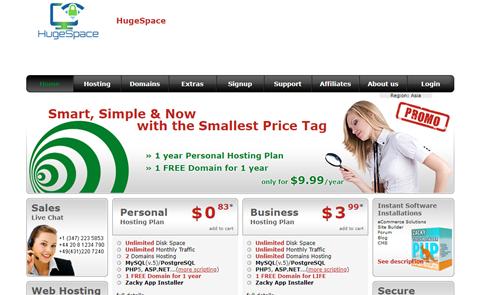 HugeSpace Hosting
