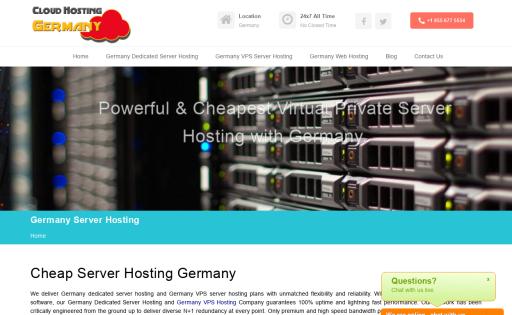 Germany Cloud Server Hosting