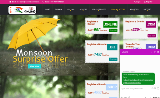 NOW INDIA ONLINE Review - web hosting reviews by real users