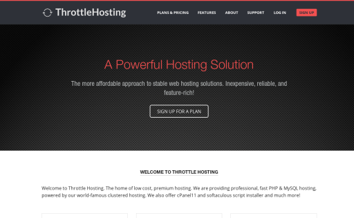Throttle Hosting
