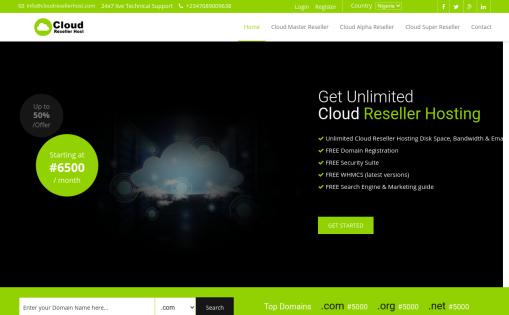 Cloud Reseller Host