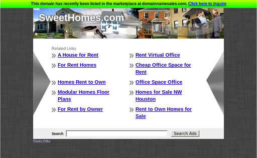 Sweet Homes Web Services