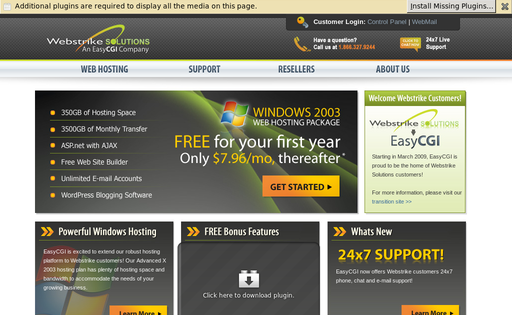 Webstrike Solutions Review - web hosting reviews by real users (Page on