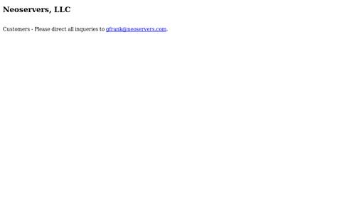 Neoservers Web Hosting