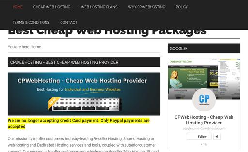 Cpwebhosting