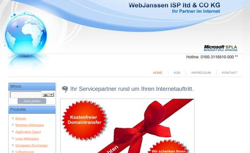 WebJanssen ISP ltd